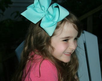"""5 Extra Large Boutique Hair Bows ~Choose Color 2.25"""" Ribbon ~ Cheer Bow ~ Choose Colors ~ m2m Matching Matilda Jane The Adventure Begins BIG"""