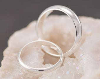 Silver wedding ring Etsy