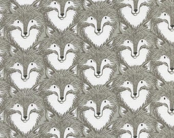 Cotton + Steel - Magic Forest Collection - Foxes in Gray