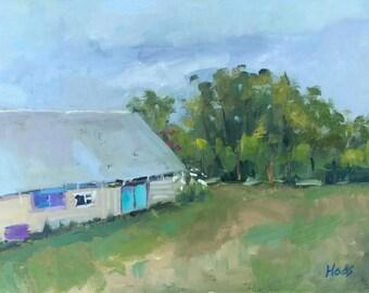 SONOMA BARN - 9 x 12 - Sonoma County - Plein Air - Original Oil Painting - California Landscape - Home Decor - Cottage Home Decor - Artwork