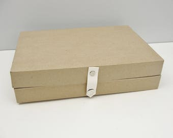 Paper mache box with snap closure
