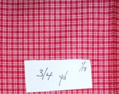 3/4 yard RED on RED Plaid Fabric. Crafts, Home Decor, Quilting, Cotton Fabric, Toys, Dolls, Clothing, Adults, Baby, Dolls, Child, DlY,