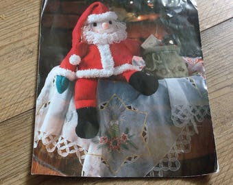 Father Christmas Knitting Pattern , Knitted Santa Pattern , Christmas Knitting