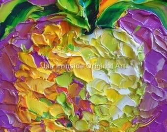 Oil Painting, Impasto, Original Painting, Palette Knife, Jan Ironside, kitchen art, original art