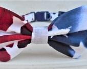 Patriotic Bow Tie Collar For Cat