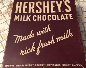 Vintage Hersheys Milk Chocolate Candy Bar Box