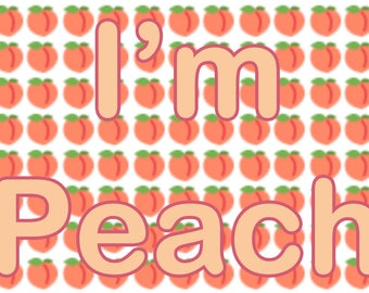 I'M PEACH- 5mL Perfume Oil- vegan
