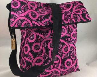 Pink & Black Sack Bag