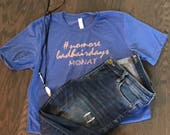 Heather Royal blue Monat shirt