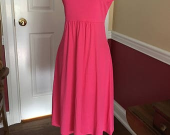 Vintage Pink Knit 1970-80's Dress