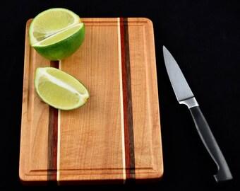 Bar Board 14 - Small Cutting Board - Cherry, Padauk, Walnut, and Maple