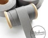 Pewter Grey Petersham Millinery Ribbon 3 Sizes (15mm No.3, 25mm No.5, 38mm No.9) - 1m