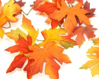100 Fall Leaves  - Artificial Leaves, Silk Leaves