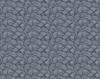 Free Spirit - Floral Waterfall - Tiny Wave - Blue - Fabric by the Yard PWSN008-8BLU