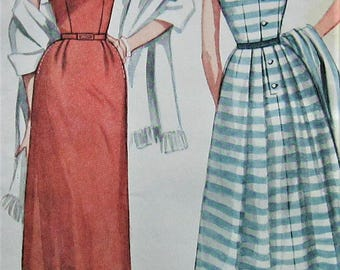 Vintage Dress Sewing Pattern UNCUT Simplicity 4240 Size 12