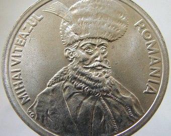 1994 ROMANIA 100 LEI Prince Michael the Brave High Grade Coin for Jewelry Pendant