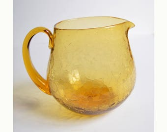 BLENKO 361 amber glass jug pitcher
