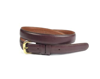 Vintage Burgundy Leather Coach Belt Made in the United States Size 34