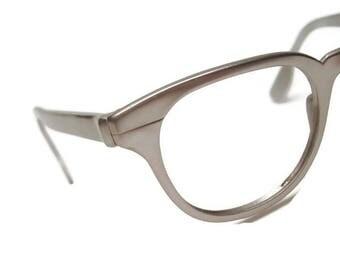 Vintage Gman Silver Eyeglasses Frame Tura