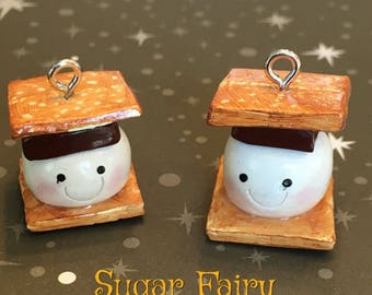 S'More Clay Charm