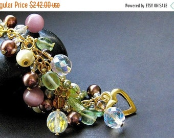 BACK to SCHOOL SALE Handmade Charm Bracelet - The Vineyard. Handmade Bracelet.