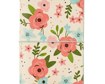 Cream Blossom Traveler's Notebook Journal Carpe Diem (IN STOCK) Free Washi Tape with this order (7966)