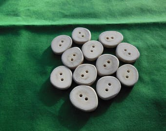 12 Antler Buttons lot 159