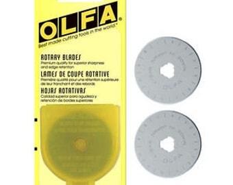 Olfa Rotary 45mm/Rotary Cutter/Olfa Blades 45mm/Rotary Blades 45mm/Olfa 2 Pack/Quilting Rotary/Quilting 45mm/Quilting blades/Quilt Rotary