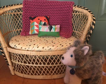 Throw pillows, 18 in doll scale