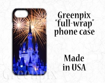 Disney phone case, Disney iPhone case, iPhone 6, iPhone 6S, iPhone 6 6S Plus, iPhone 7, iphone 7 Plus, fireworks, princess Cinderella castle