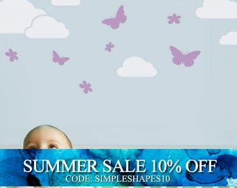 Butterflies in the Sky Decal - Children's Vinyl Wall Sticker
