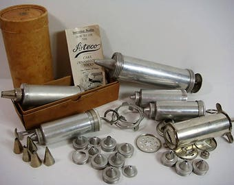 Cake Decorating Cookie Press Lot Cake Piping, Decorating, Cookie Press