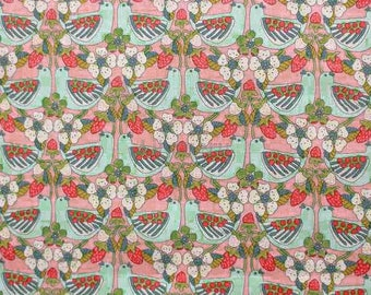 Liberty tana lawn printed in Japan - Strawberry feast