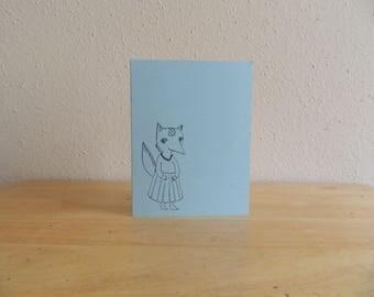 Handmade Hedge Hog Card