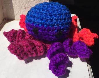 Rainbow Amigurumi Octopus