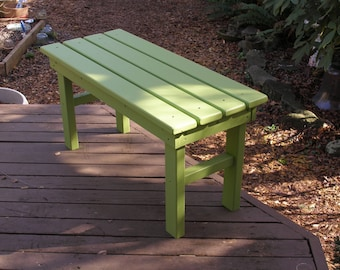Country Outdoor Garden Bench - Entryway Bench - Mud Bench - Order Your Favorite Color - 12 Colors Available - Strong Durable Cedar/Pine