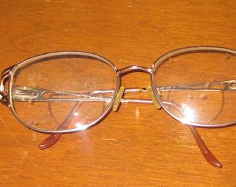SALE Eye Glasses vintage 1980s 2 pair vintage metal glasses frames