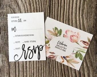 Greenery Wedding Invitations · Custom Wedding Invitation Suite - All in One Wedding Invites (215)
