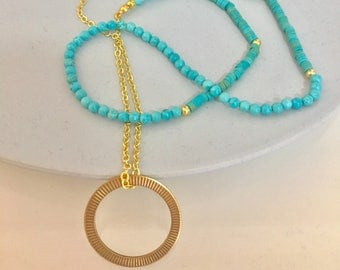 In the Loop || Turquoise Glasses Lanyard