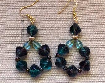 Blue Green Violet Celsian Diva Earrings