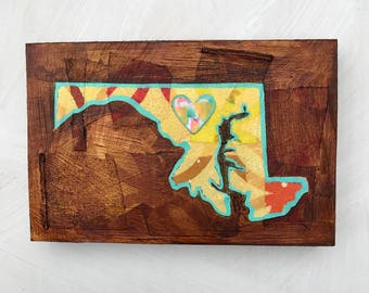 Maryland State mixed media original painting
