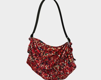 Bali Tile Art in Red Origami Tote