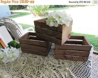 PICK ME SALE Rustic Wood Crates planter box wedding reception decorations mason jar vase centerpiece wood reclaimed country wedding decorati