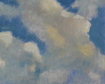 Oil painting, clouds, sky painting