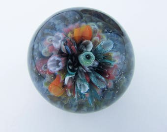 Glass Ocean Coral Reef Marble, Boro Marble, Lampwork, Anniversary Gift, Borosilicate Glass Marble, Collectible Marble, Diving, Heady Glass