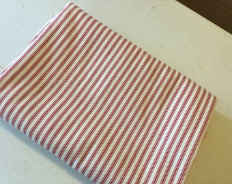 Fabric Red Ticking cotton panel