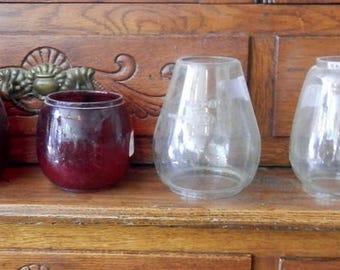 Choice original barn or Rail way lantern globes antique  vintage