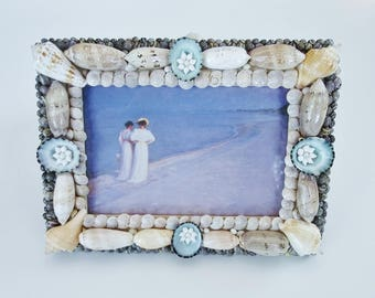 Seashell Picture Frame, Limpets, 8 x 6 Frame,