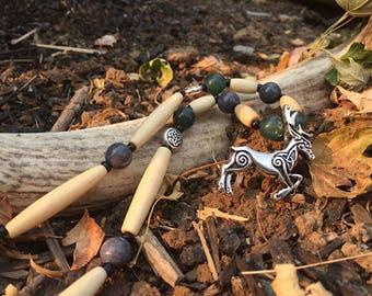 Celtic deer necklace