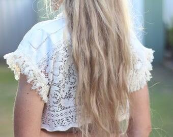 Vintage lace Bolero, Crochet hippie bolero, Lace wedding bolero, Boho Wedding shrug, Woodland wedding shrug Bohemian wedding jacket